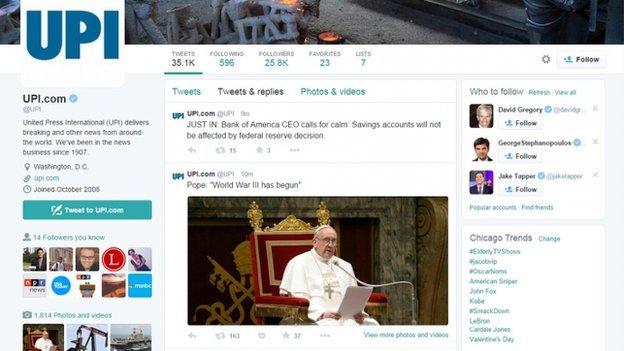 Hakohen llogaritë në Twitter të UPI-së dhe New York Post 1